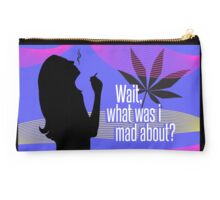"""Wait, what was I mad about?"" Studio Pouch"