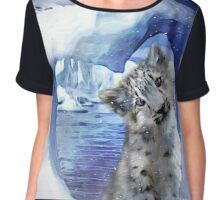 Snow Leopard - Heart Warmer Chiffon Top
