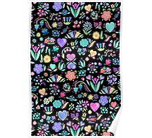 Bright Floral Delight Poster