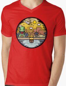 Jurassic landscape Mens V-Neck T-Shirt