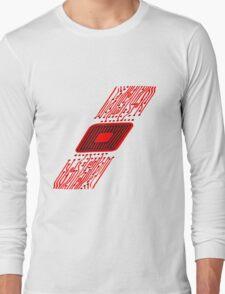 microchip disk pattern design cool Long Sleeve T-Shirt