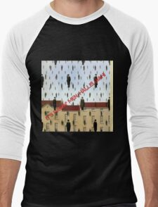 Magritte - Golconde Men's Baseball ¾ T-Shirt