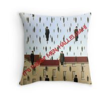 Magritte - Golconde Throw Pillow