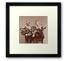 Clown Guitar and Mandolin Framed Print