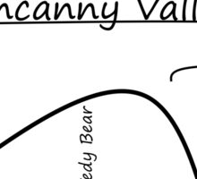 The Uncanny Valley Sticker