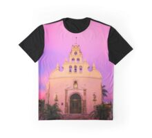 Santiago Cielo Rosa Graphic T-Shirt