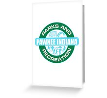 Pawnee Parks and Rec LOGO Greeting Card
