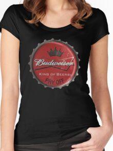 BUDWEISER BOTTLE CAP Women's Fitted Scoop T-Shirt