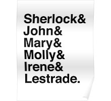 Sherlock & John & Mary & Molly & Irene & Lestrade. (Sherlock) Poster