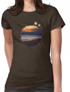 Sunset Beach Womens Fitted T-Shirt