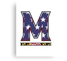 American Flag UMD M Logo Canvas Print