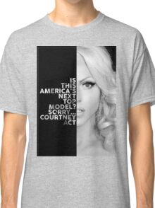 Courtney Act Text Portrait Classic T-Shirt