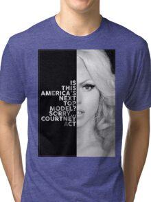 Courtney Act Text Portrait Tri-blend T-Shirt