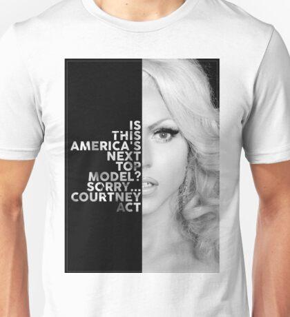 Courtney Act Text Portrait Unisex T-Shirt