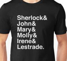 Sherlock & John & Mary & Molly & Irene & Lestrade. (Sherlock) (Inverse) Unisex T-Shirt
