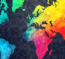world map watercolor 6 Sticker