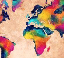 world map watercolor 5 Sticker