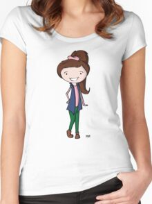 Flopi  Women's Fitted Scoop T-Shirt