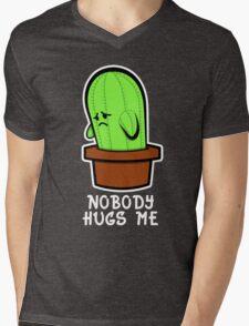 Lonely Cactus Mens V-Neck T-Shirt