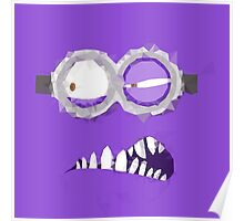 Purple Minion Polygonal Edit Poster