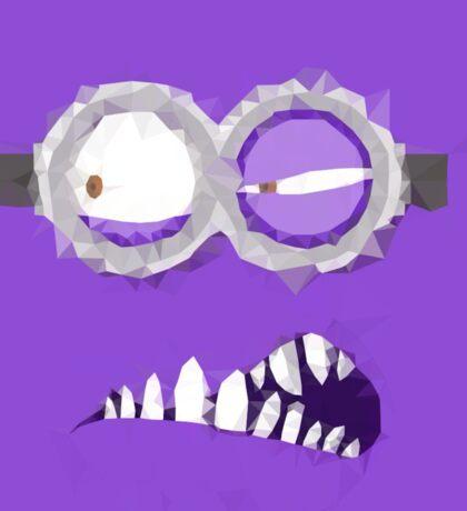 Purple Minion Polygonal Design Sticker