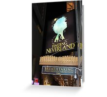 NYC Finding Neverland Broadway Greeting Card