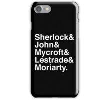 Sherlock & John & Mycroft & Lestrade & Moriarty. (Sherlock) (Inverse) iPhone Case/Skin