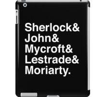 Sherlock & John & Mycroft & Lestrade & Moriarty. (Sherlock) (Inverse) iPad Case/Skin