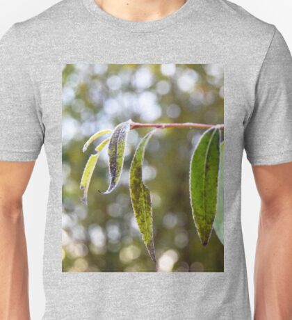 Frost on the willow tree Unisex T-Shirt