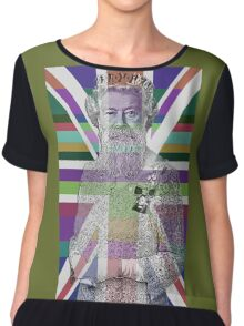 God Shave the Queen! Chiffon Top