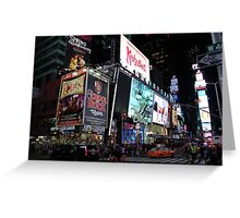 NYC Times Square Artwork Greeting Card