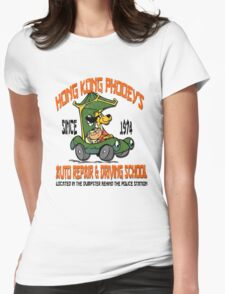 Hong Kong Phooey's Auto Repair & Driving School Womens Fitted T-Shirt