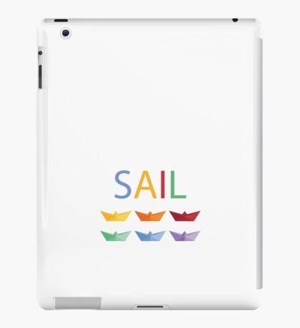 Sail Paper Boats Graphic Design iPad Case/Skin