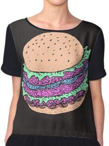 A such Big, Grimy Burger...  Chiffon Top