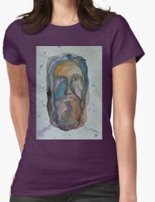 Face with Beard Womens Fitted T-Shirt