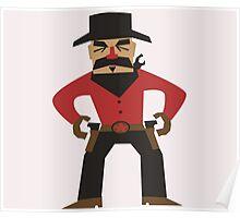 Western Cowboy Gunslinger Poster