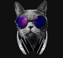 Cat has Galaxy Glasses Unisex T-Shirt