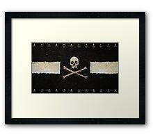 Pirate Skulls - Black Framed Print