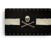 Pirate Skulls - Black Canvas Print