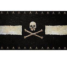 Pirate Skulls - Black Photographic Print