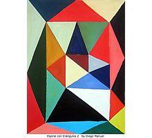 Espiral con triángulos 2  by Diego Manuel Photographic Print