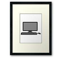 mouse keyboard screen tv pc computer display image design Framed Print