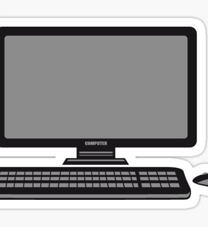 mouse keyboard screen tv pc computer display image design Sticker