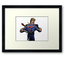 Super Trump Framed Print