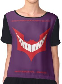 Joker behind Batman Chiffon Top