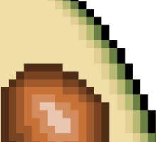 Avocado 8-Bit PIxel Art Sticker