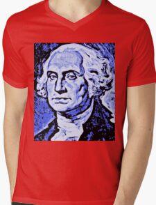 GEORGE WASHINGTON Mens V-Neck T-Shirt