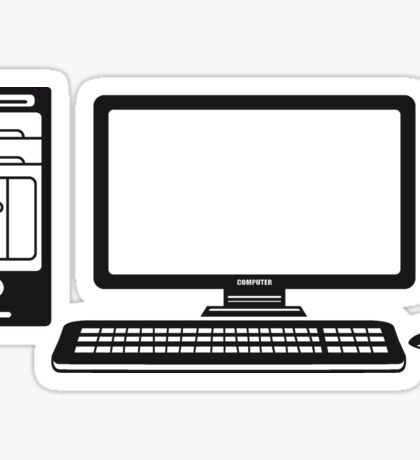 mouse keyboard screen tv pc computer display picture cool design Sticker