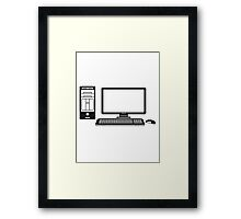 mouse keyboard screen tv pc computer display picture cool design Framed Print