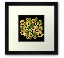 Peach Pansy Design by Kat Worth Framed Print